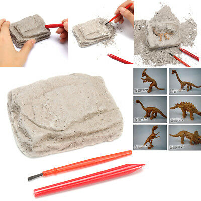 Dinosaur Excavation Kit Archaeology Dig Up Fossil Skeleton Fun Kids Toy Gift (Dig Up)