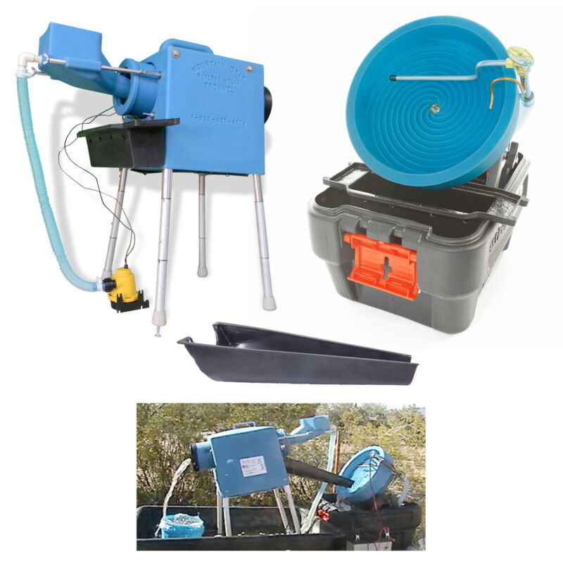 Mountain Goat Trommel, Desert Fox Gold Panning Machine & Trommel Transfer Kit
