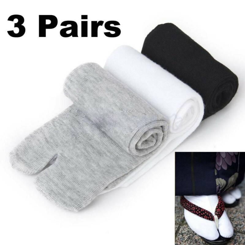 3 Pairs Unisex Japanese Kimono Geta Clog Flip Flop Cotton Ta