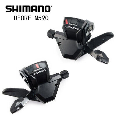 04767825b56 SHIMANO DEORE M590 9 SPEED TRIGGER SHIFTER DUO WITH CABLE SET FREE SHIPPING