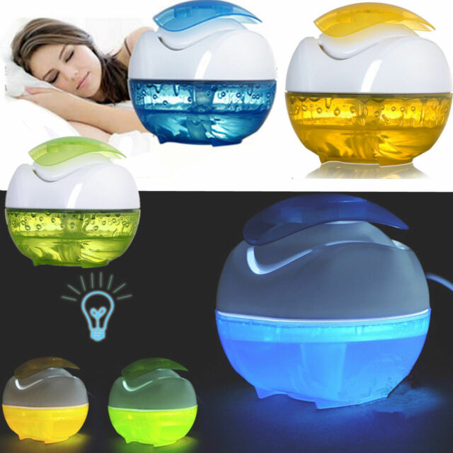 New Mini USB Humidifier Fresh Air Purifier Moistener Steam Diffuser Night Light | eBay