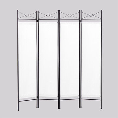 ROOM DIVIDER Privacy Screen 4 Panel Folding Partition Home Office Decor White 3 Panel Black Room Divider