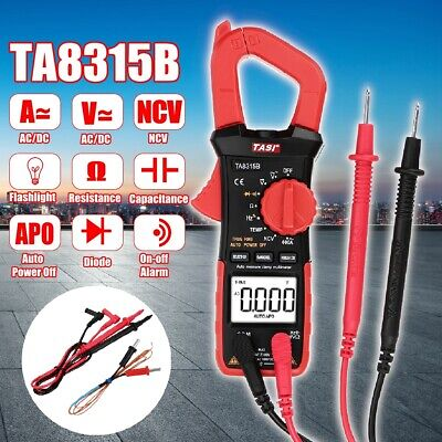 600a 5999 Digital Clamp Meter Tester Acdc Volt Multimeter Auto Ranging W Bag