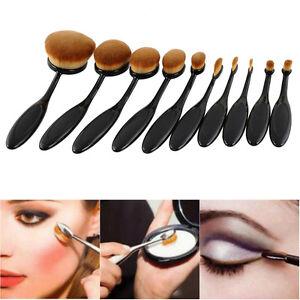 10x-Pro-Toothbrush-Makeup-Brush-Eyebrow-Oval-Powder-Cream-Brush-Foundation-Brush