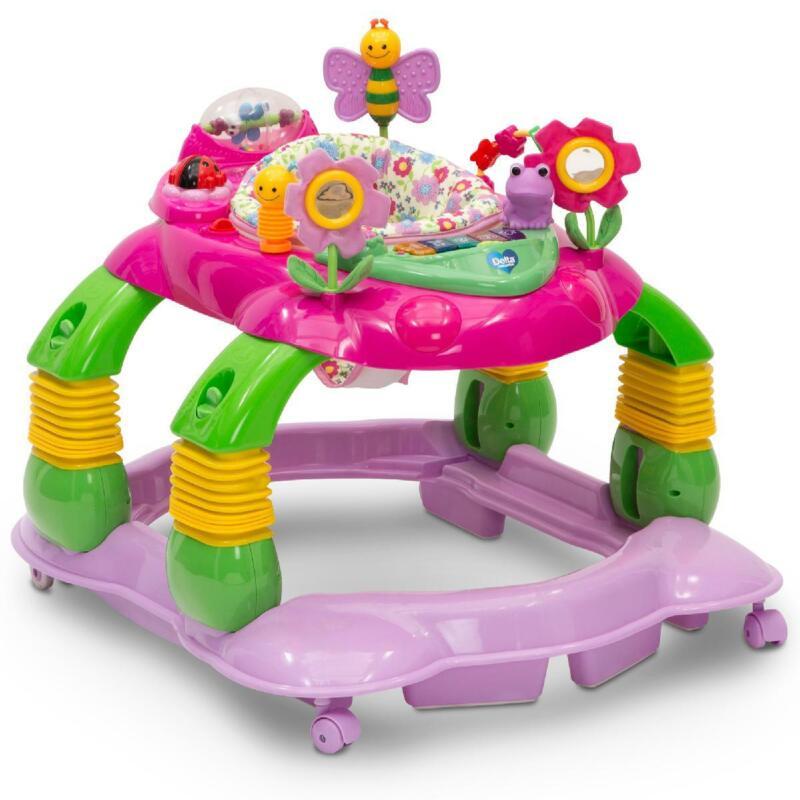Lil� Play Station 3-in-1 Activity Walker, Pink Floral Garden, Delta Children