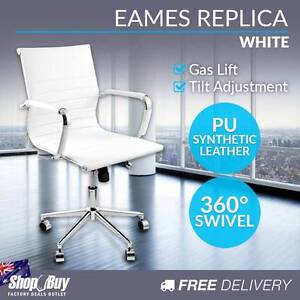 Free Delivery: PU Leather Executive Office Computer Chair Eames Melbourne CBD Melbourne City Preview