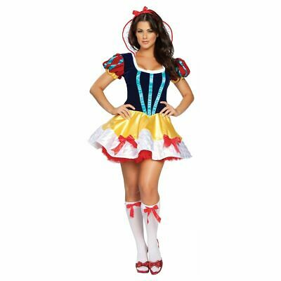 SEXY COSTUME Womens SNOW WHITE FANTASY PRINCESS Adult COSPLAY naughty ROMA M/L - Fantasy Adult Costumes