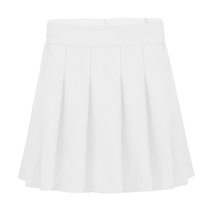 Girls Pleated Skirt School Uniform Skorts Elasticated Waist Skater Scooter Dress