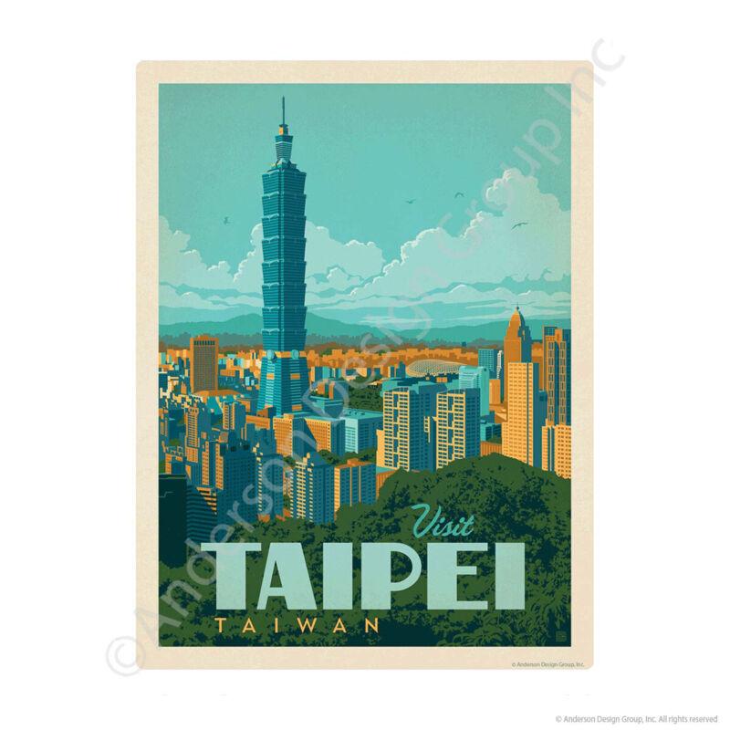 Visit Taipei Taiwan Mini Vinyl Sticker