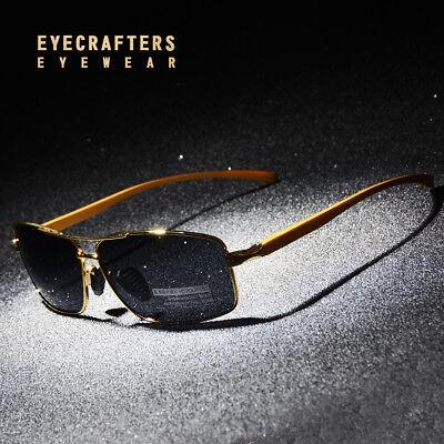 Aluminium Polarized Sunglasses Spring Hinge Mens Outdoor Driving Fishing Glasses ()
