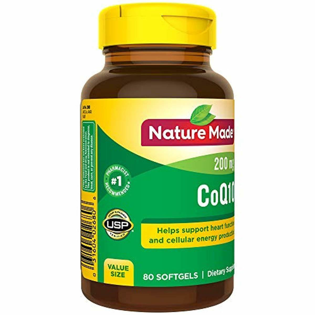 Nature Made CoQ10 200 mg Softgels, 80 Count Value Size for H