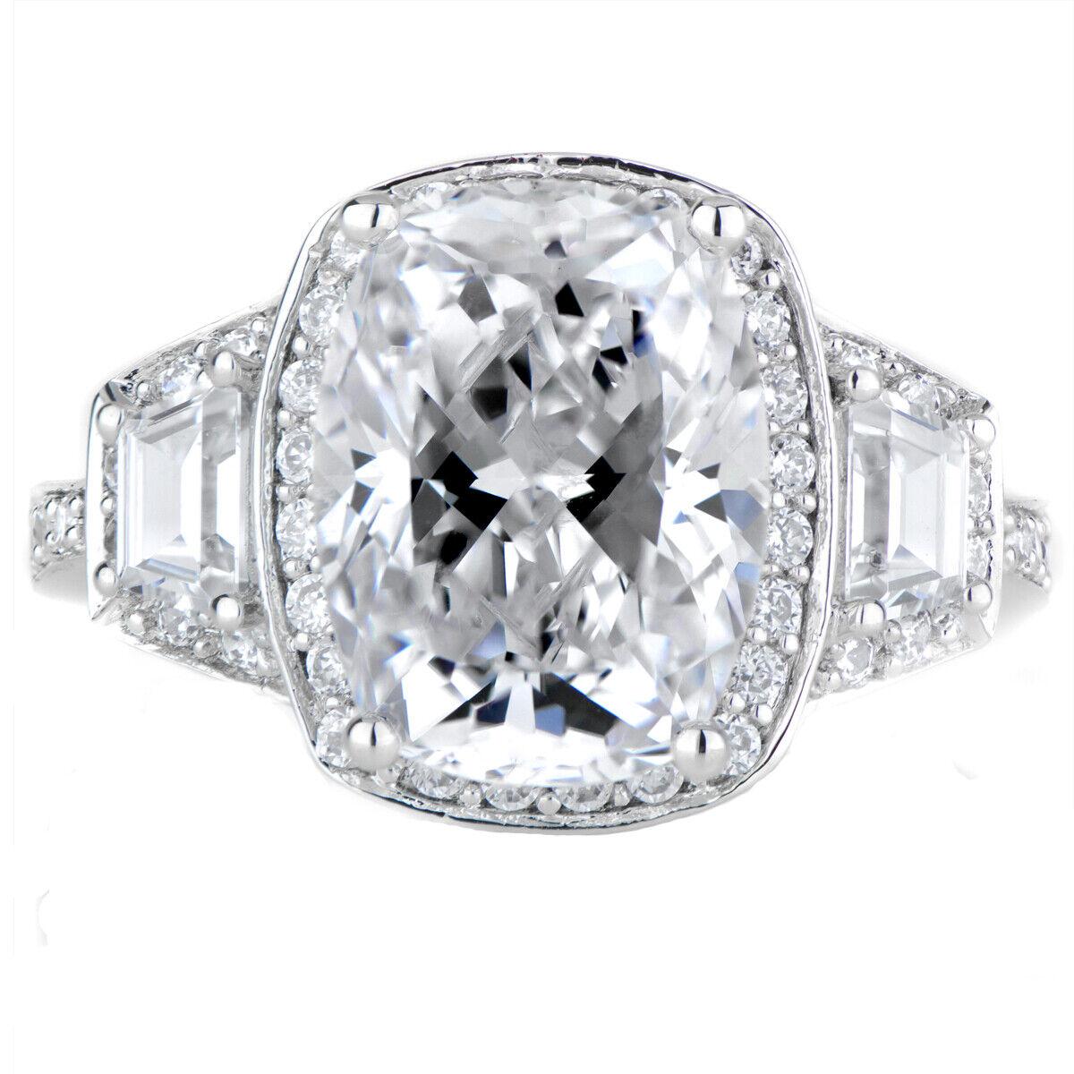GIA Certified Diamond Engagement Ring Natural Cushion Cut 4.22 carat Platinum