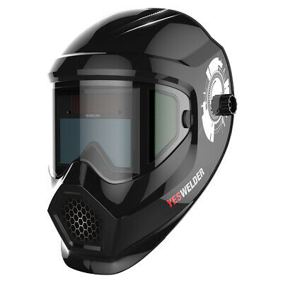 True Color Auto Darkening Welding Helmet Mask For Mig Tig Arc With Side View