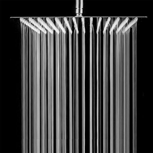 "12"" Square Rain Shower Head Stainless Steel High Pressure Ultra Thin Bath Shower"
