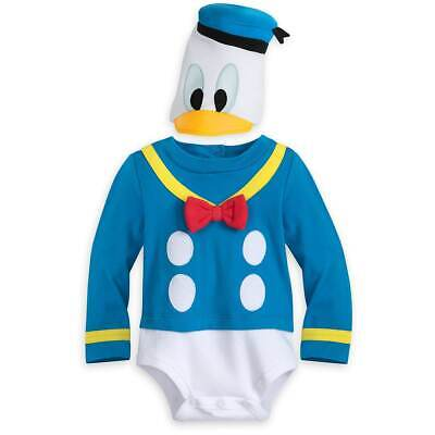 Disney Store Donald Duck Baby Bodysuit Dress Up Boy Costume Mickey Halloween NEW - Duck Baby Costume