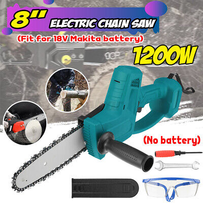 8in Electric Cordless Chainsaw Chain Saw Garden Cutting Tools For Makita