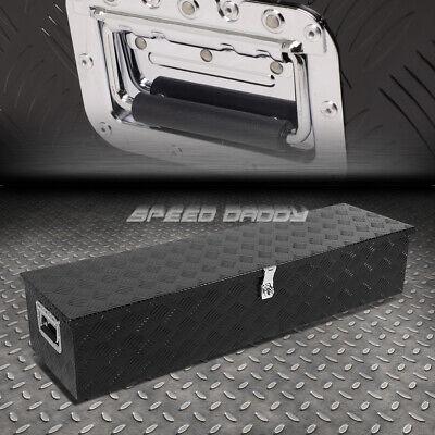 Small Truck Tool Box >> 39 X13 X10 Black Aluminum Pickup Truck Trunk Bed Tool Box Trailer Storage Lock