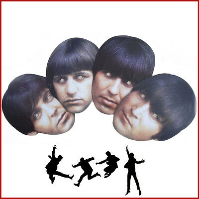 Fab Four The Beatles Celebrity Face Masks Famous Band Hen Night Stag Party - Famous Face Masks