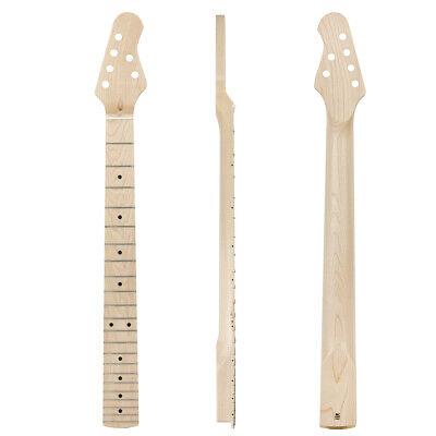 Kmise Electric Guitar Neck Canada Maple 22 Frets Bolt on C Shape Clear Satin