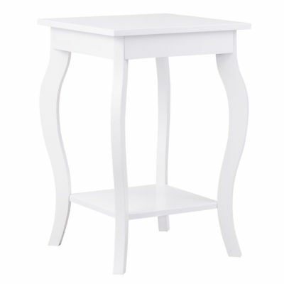 White Side Sofa Accent End Nightstand Coffee Tea Table Bedside Bedroom Furniture