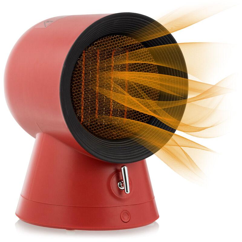 1500w Portable Ptc Ceramic Space Heater Office Electric Desktop Heating Fan Red