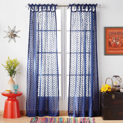 The Pioneer Woman Darling Dot Pole Top Curtain Panel 50