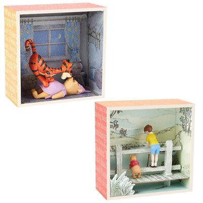 Hallmark 2pc Disney Winnie the Pooh Shadow Box Figurine Sets Tigger Best
