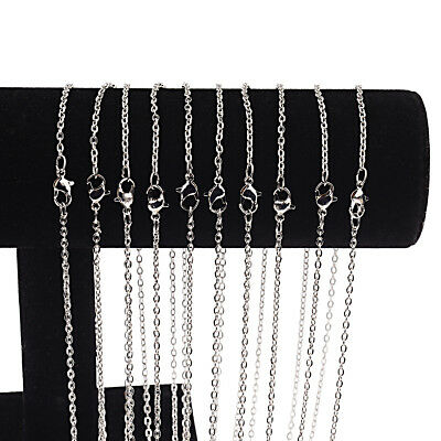 Wholesale 10 Pieces/Lot Silver Plated Making DIY Hard Link Chain Necklace 22''](Wholesale Necklaces)