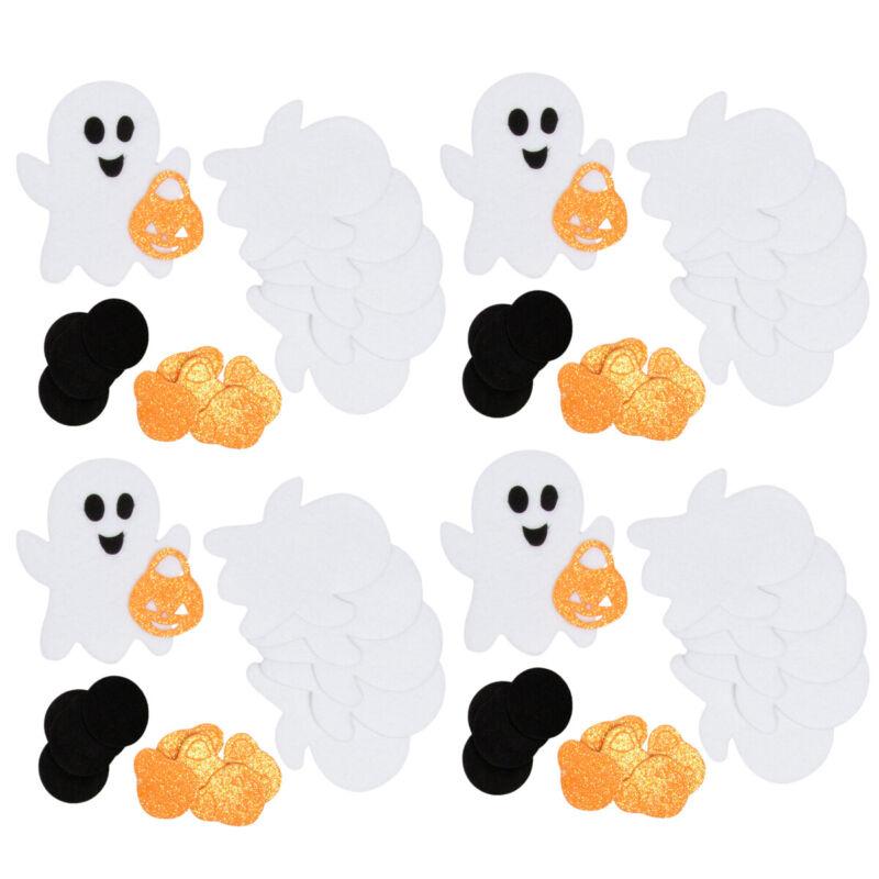 4pk Ghosts Foam Felt Stickers Halloween Decorations Arts Crafts Supplies Kids