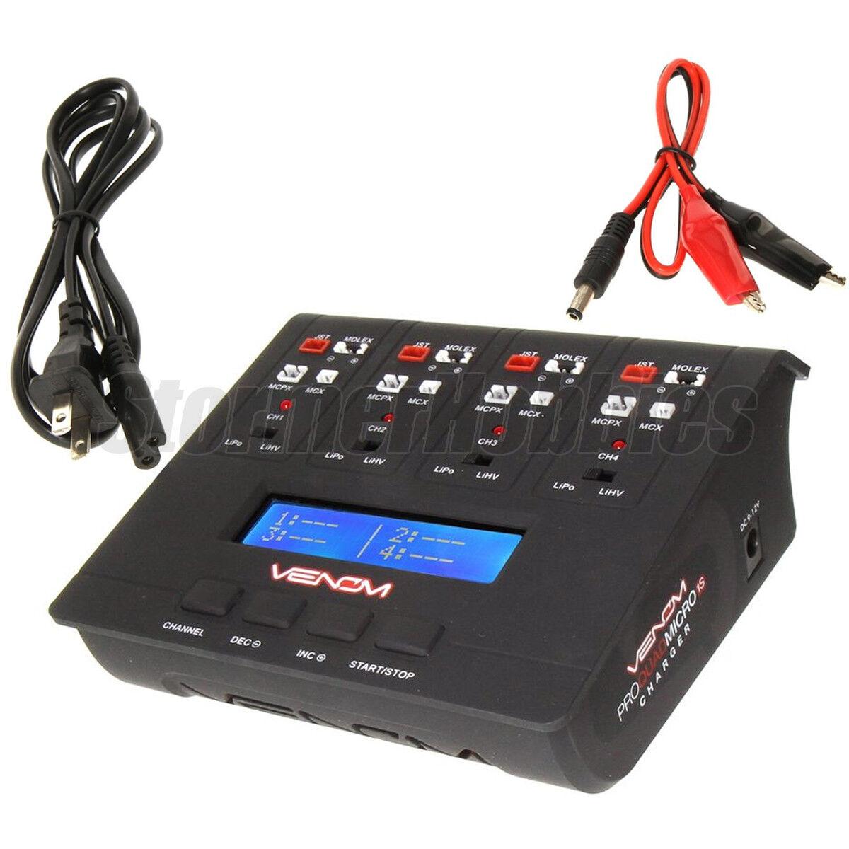 Venom Pro Quad Micro 1S 4 Channel AC/DC LiPo & LiHV Battery