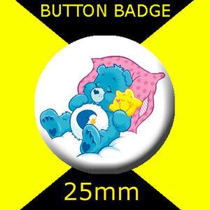 CARE BEARS - BEDTIME BEAR - - CULT TV - BUTTON BADGE 25mm ...