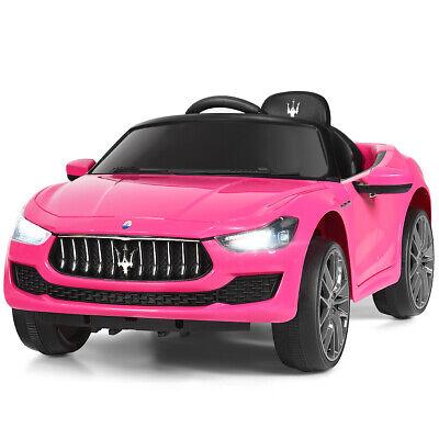 12V Maserati Electric Kids Ride on Car w/ RC Remote Control Led Lights MP3 Pink