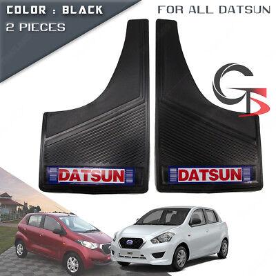 Front Mud Splash Guard Rubber Black Trim 2 Pc Fits All Datsun Pickup Sedan Suv