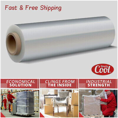 Stretch Wrap Clear Cling Wrap Plastic Strong 1100 Sq Ft Pallet Furniture Packing
