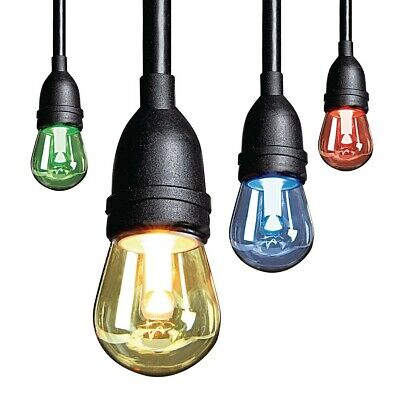 NEW LUMINAR OUTDOOR 12 Bulb Color Changing LED String Lights FREE SHIPPING