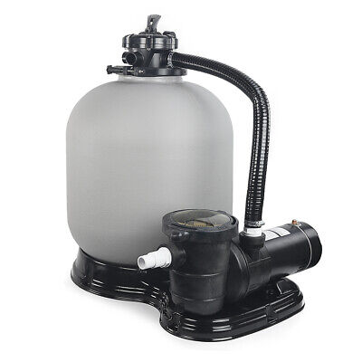 Above Ground Swimming Pool Sand Filter System with Pump 4500GPH 19