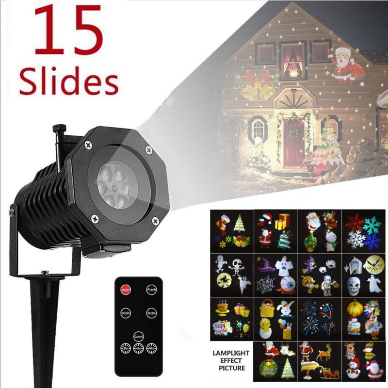 LED Projektor Laser Licht Lampe Außen Beleuchtung Gartenlicht Weihnachten Dekor