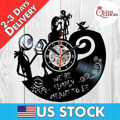Jack Skellington Clock Sally Nightmare Before Christmas Vinyl Record Wall Gifts