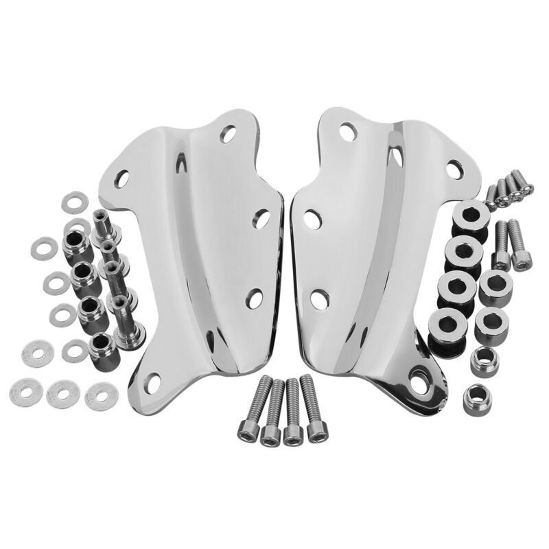 4-Point Docking Hardware Kit Compatible with 2009-2013 Harley Davidson Touring Chrome