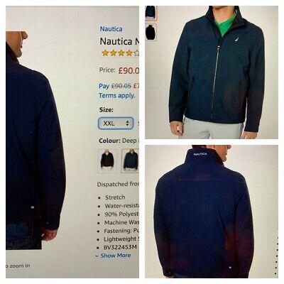 Nautica BNWT Men's Black Windbreaker Jacket Size XXLT