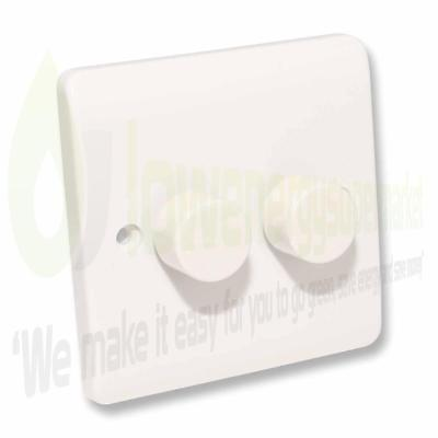 LED Dimmer Double Light Switch for Dimmable lighting White 3W to 250W 240V