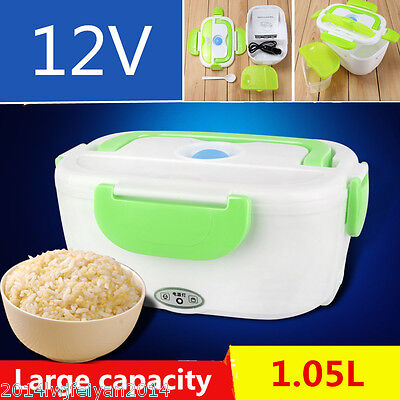 Portable 1.05L Car Electric Heating Lunch Box Storage Container Food Warm Heater
