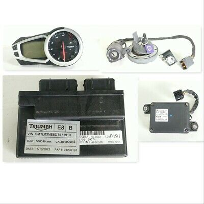 13 Triumph Street Triple 675 Lock Set Ignition Cap Key Gauge ECU Immobilizer