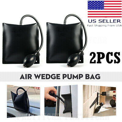 2× Air Wedge Pump Bag Lever Inflatable Cushioned Bag Lift Pry Entry Tool Set