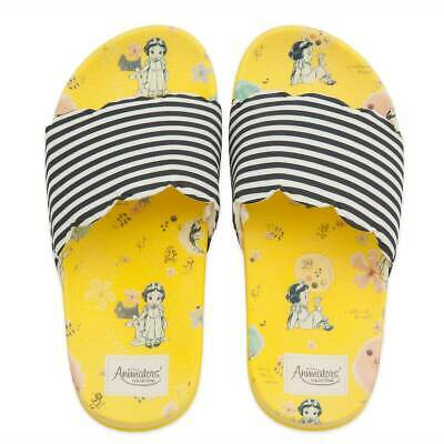 NWT Disney Store Snow White Slides Sandals Shoes Girls 9/10,11/12