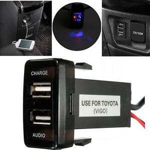 USB Audio and Charger Port for Toyota Prado 120 Hilux FJ Cruiser Auburn Auburn Area Preview