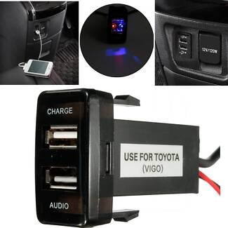 USB Audio and Charger Port for Toyota Prado 120 Hilux FJ Cruiser