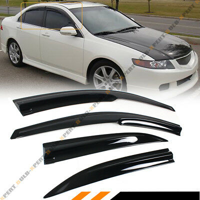 FOR 2004-2008 ACURA TSX CL8 EURO-R JDM 3D WAVY WINDOW VISOR RAIN GUARD DEFLECTOR