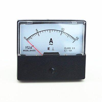 Ac 0-15a Analog Panel Meter Ammeter Gauge Dh-670