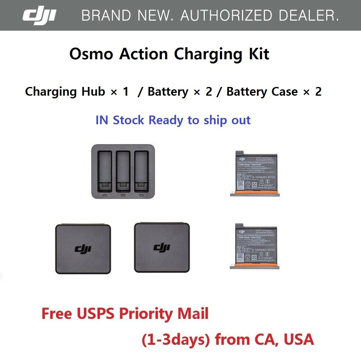 dji-osmo-action-camera-battery-charging-kit-charger-hub-battery-x-2-case-x-2